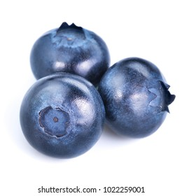 Blueberries isolated on white background