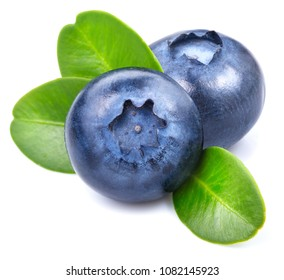 Blueberries isolated on white background Clipping Path