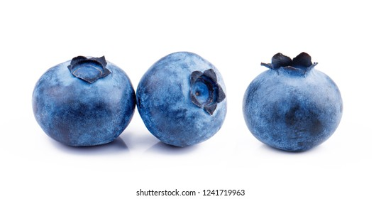 Blueberries isolated on white background. Ideal for packaging