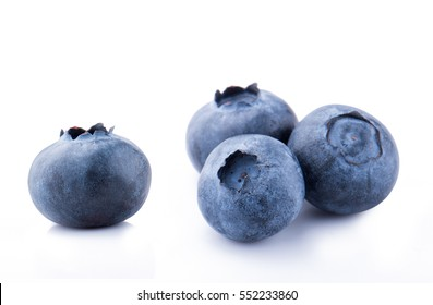 Blueberries isolated on white background. Concept for packaging.