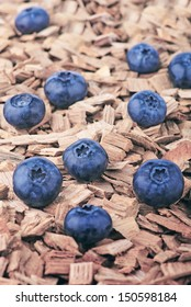 Blueberries on the ground