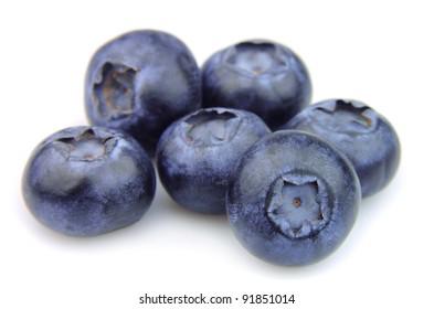 Blueberries  on white background