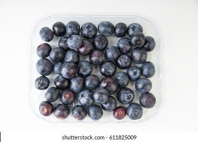 Blueberries in a plastic package