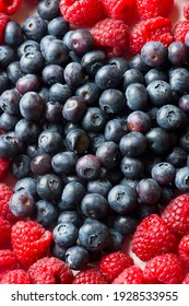 Blueberries and raspberries. Cooking ingredients from a farmers markets, Fresh Fruits and vegetables. Classic ingredients and garnishes used in restaurant cooking.