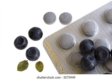 blueberries and vitamin supplement: eye protection