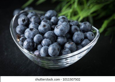 Blueberry antioxidant organic in a bowl. Small depth of field.