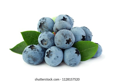 Blueberry berry closeup isolated on white background