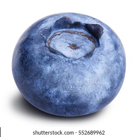 blueberry berry isolated on white background clipping path