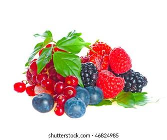 blueberry, blackberry, raspberry. fresh berries