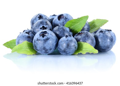 Blueberry blueberries fresh berry berries bilberry bilberries isolated on a white background