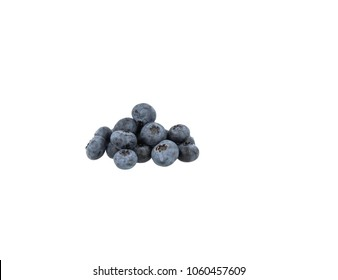 Blueberry bunch on white background