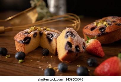 blueberry cake with Strawberry Cake