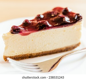 Blueberry cheese cake - vintage soft effect style pictures