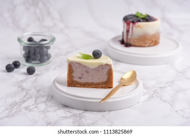 Blueberry cheesecake with panna cotta
