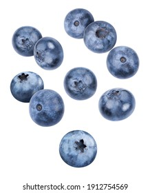 Blueberry clipping path. Organic fresh blueberry isolated on white. Full depth of field