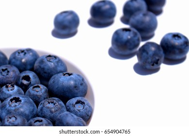 Blueberry. Close-up view of fresh Blueberries isolated on white background