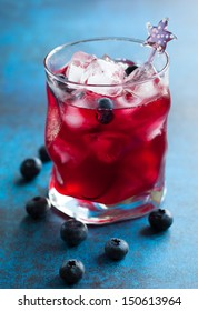 blueberry  cocktail in glass