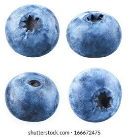 Blueberry. Collection of berries on white background