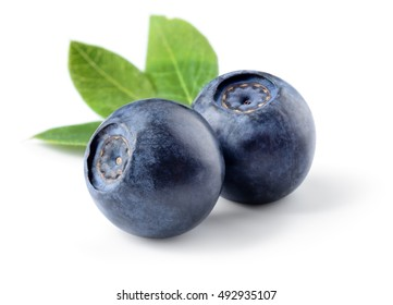 Blueberry. Fresh berries isolated on white. With clipping path.