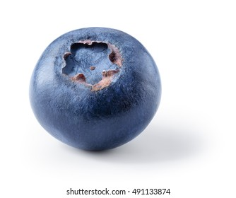 Blueberry. Fresh berry isolated over white. With clipping path.