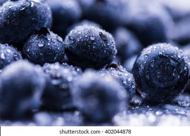 Blueberry, fruit, close-up, macro.