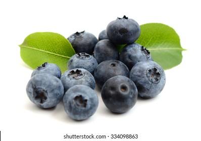 blueberry fruit on white background