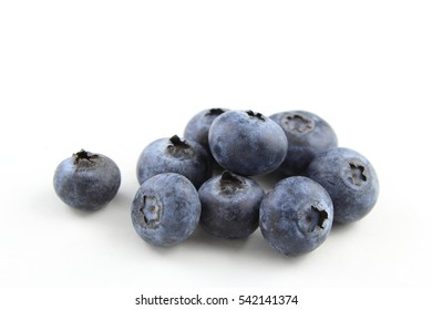 blueberry fruits isolated on a white background