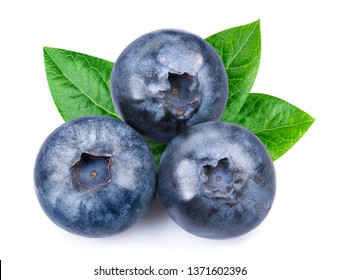Blueberry isolated on white background. Blueberry Clipping Path. Professional studio macro shooting