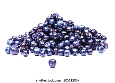 blueberry isolated on the white background