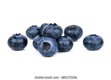 Blueberry isolated on the white background .