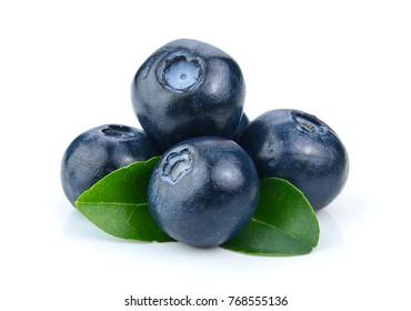 Blueberry isolated on white background