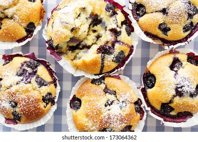 Blueberry Muffins, selective focus