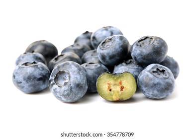Blueberry on a white background