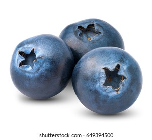 Blueberry, on white background isolated