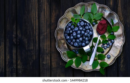 Blueberry powder, made with wild Nordic berries. One teaspoon of powder is equivalent to a cup of fresh bilberries. Freeze dried  concentrate raw antioxidant, power food rich sweet and delicious