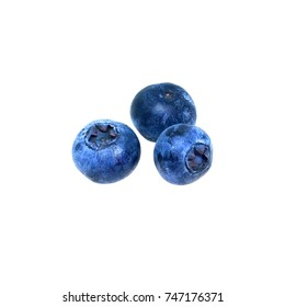 blueberry ripe large berry, isolated white background