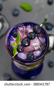 Blueberry and Vodka Cocktail. Selective and Soft focus.