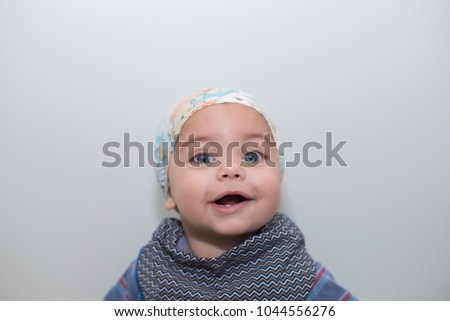 Blueeyed Baby Boy Bandana On Head Stock Photo (Edit Now) 1044556276 ... 5f3306ed76e