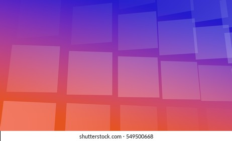 Blue-orange background with tiles, useful for many applications (3d rendering)