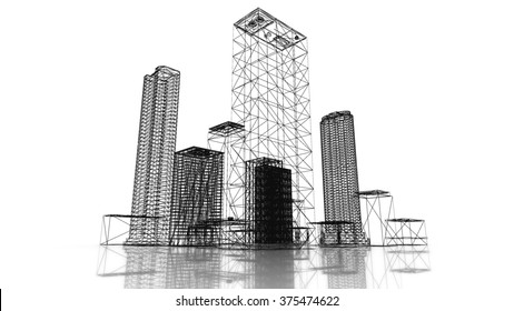 Blueprint map images stock photos vectors shutterstock blueprint of the business district of the city with skyscrapers and apartment buildings 3d render malvernweather Images