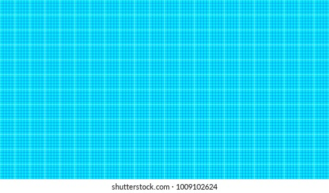 Blueprint grid of blue and aqua vertical and horizontal lines seamless geometric pattern