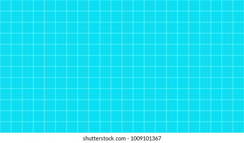 Blueprint grid of grey and aqua vertical and horizontal lines seamless geometric pattern