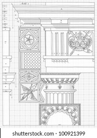 Bank england london sketch collection vectores en stock 224574616 blueprint hand draw sketch doric architectural order based the five orders of architecture malvernweather Gallery
