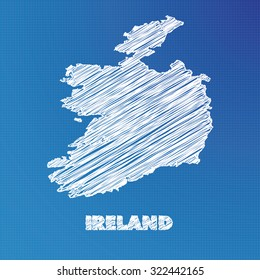 Blueprint ireland images stock photos vectors shutterstock a blueprint map of the country of ireland malvernweather Images
