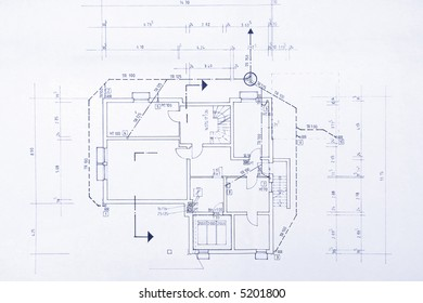 Blueprint of my own house - beautiful background image.