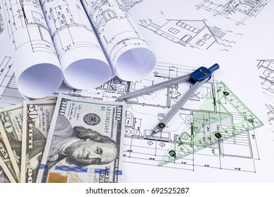 Sankt petersburg russia june 20 2018 yahoo stock photo 100 legal blueprints rolls and a drawing instruments on the worktable malvernweather Images