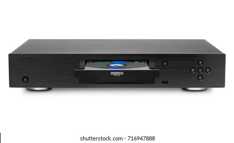 Blue-ray player with a disk, isolated