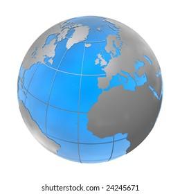 blue-silver globe