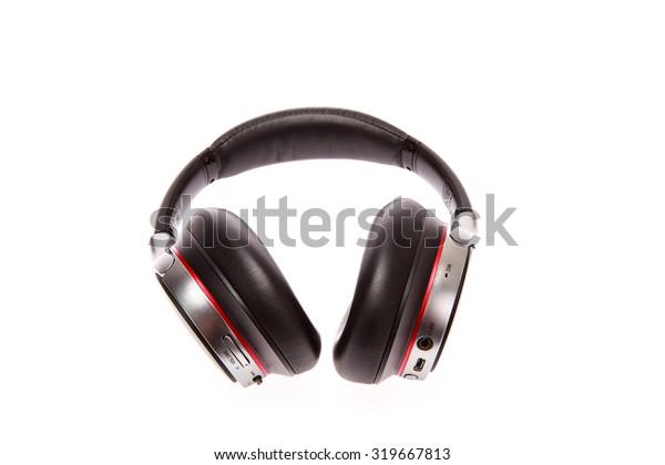 Bluetooth Headset Black Music Phone Calls Stock Photo Edit Now 319667813