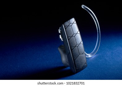 Bluetooth Headset on black background